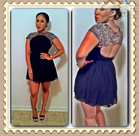short dress Open back dress black dresses