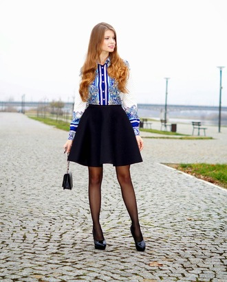 shirt black skirt blogger only my fashion style