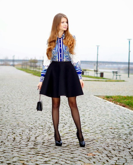 black skirt blogger only my fashion style shirt