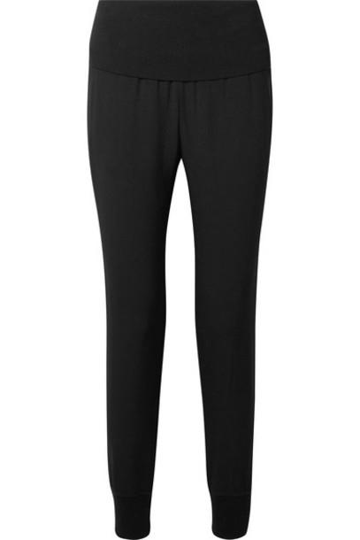 pants track pants black knit