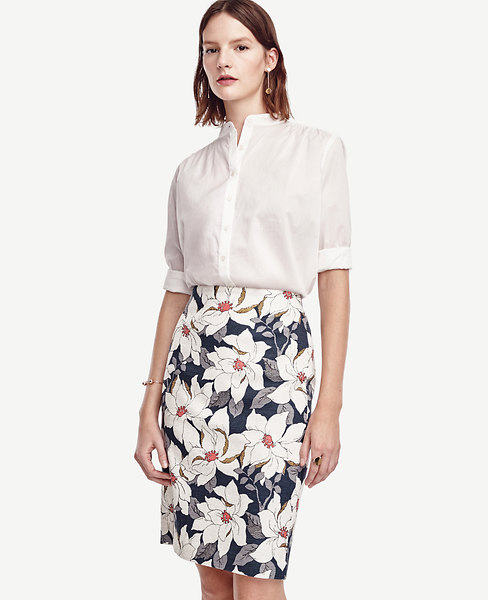 Floral Pencil Skirt | Ann Taylor