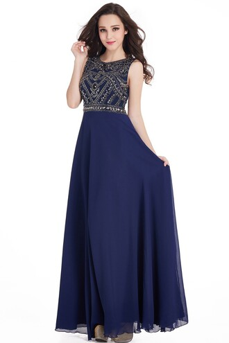 dress prom dress prom gown crystal beaded prom dresses navy blue prom dress evening dress chiffon evening dresses navy blue evening gown cheap prom dress cheap evening dreses