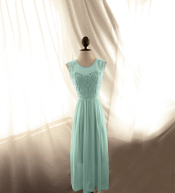 Elven Downton Abbey Romantic Seafoam Green Minty by RiverOfRomansk