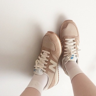 shoes beige new balance pale light