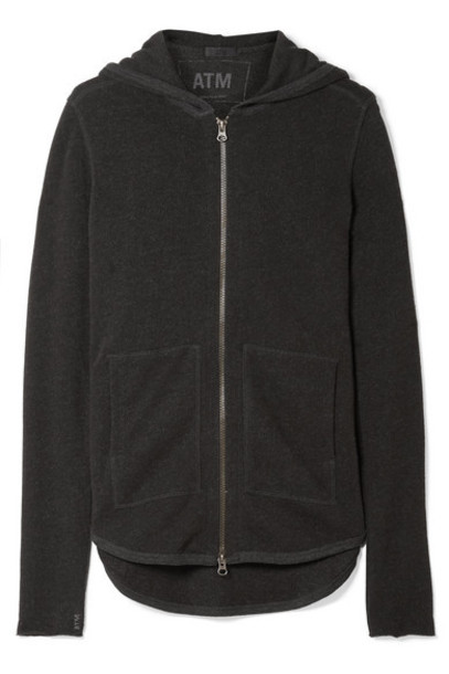 ATM Anthony Thomas Melillo - French Cotton-blend Terry Hooded Top - Anthracite