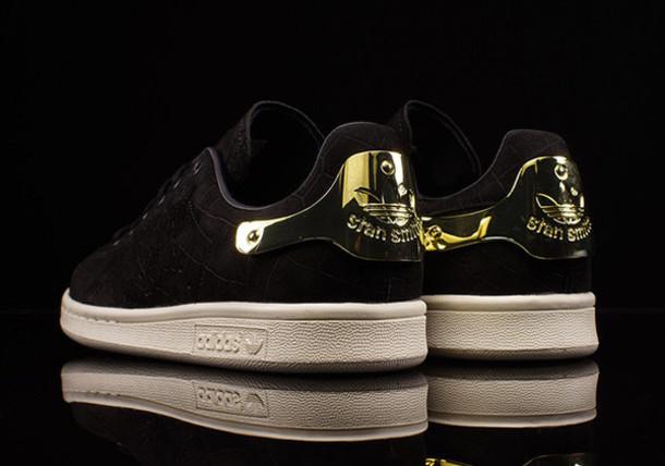 stan smith adidas black gold