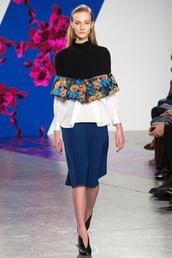 sweater,cape,capelet,thakoon,fall 2014,rtw