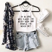 top,crop tops,croptoptshirt,haultershirt,shirt,flannel shirt,tank top,fashion,white,converse