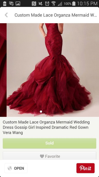 dress red gossip girl dress strapless dress marmaid