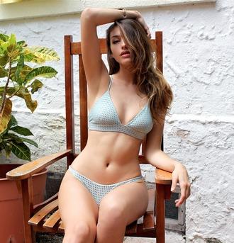 swimwear acacia swimwear bikini blue teal mesh