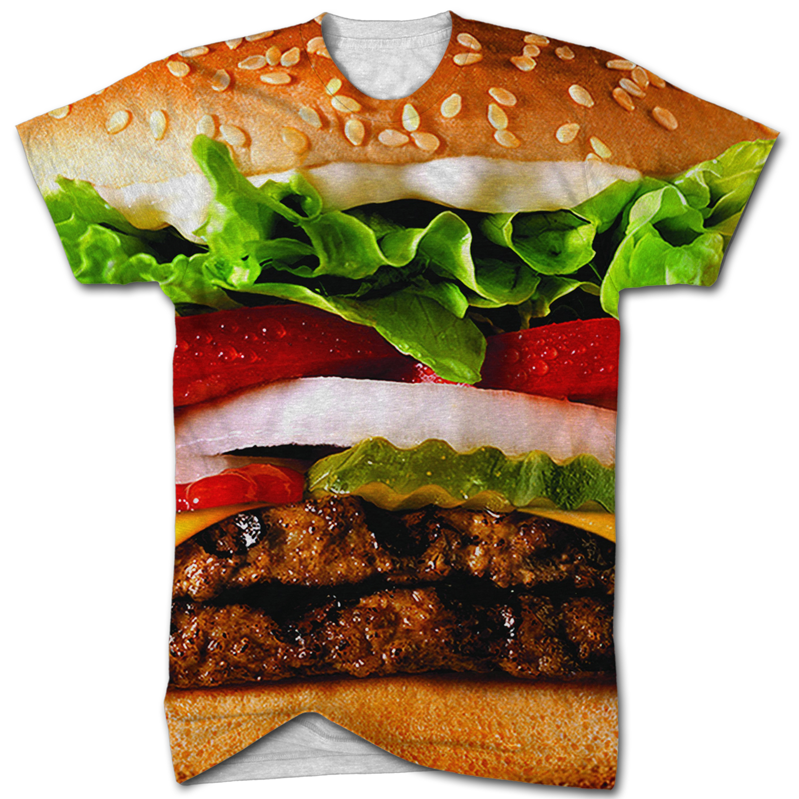 Burger all over print t shirt