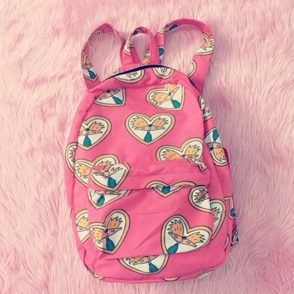 bag hey arnold heyarnold backpack pink heart