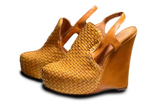 wedges woven yellow shoes brown shoes