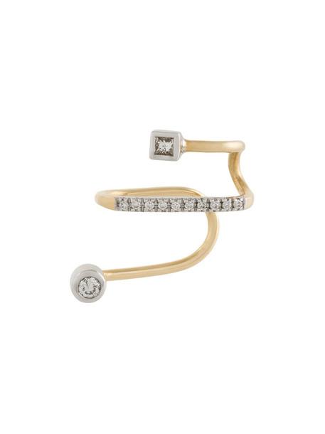 Maria Black cuff women ear cuff gold grey blanc metallic jewels