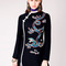 Orchid - black with embroidery ⋆ rixo london rixo london