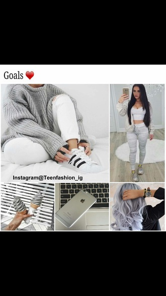 blouse crop tops sweater oversized sweater grey sweater
