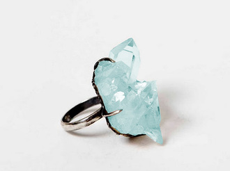 jewels ring pretty fashion stone blue stone ring blue ring pll ice ball blue wedding accessory