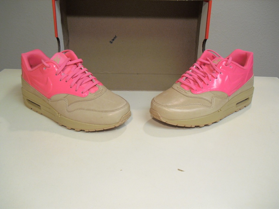 New Women's Nike Air Max 1 VT QS Vachetta Tan Pink Flash sz 8.5 AM1 Quickstrike | eBay