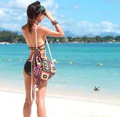 bag,coachella,backpack,aztec,hippie,boho,beach,tribal pattern