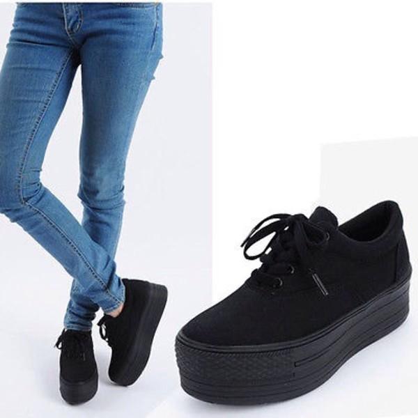 shoes platform shoes platform sneakers black black platform shoes platfrom shoes black