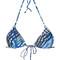 Lygia & nanny - 'lido' bikini top - women - polyamide/spandex/elastane - m, blue, polyamide/spandex/elastane