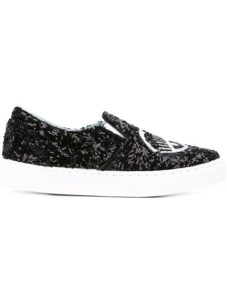 Chiara Ferragni women sneakers leather black shoes