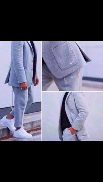 jacket gray blazer nike