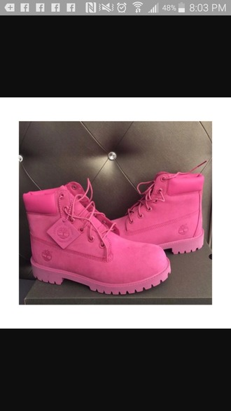 shoes pink timberlands women boots