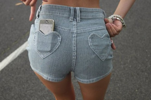 corduroy shorts heart pockets pockets heart High waisted shorts