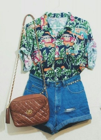 blouse hipster floral indie boho thrift hippie streetstyle