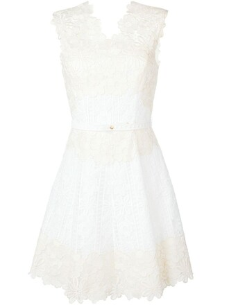 dress sleeveless dress sleeveless embroidered lace white