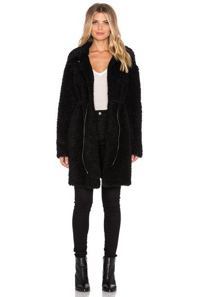 TWELFTH STREET BY CYNTHIA VINCENT coat faux fur coat fur coat fur faux fur black