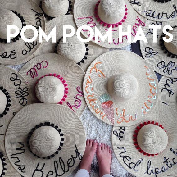 81773bf723a Women s Pom Pom Floppy Sun Hat