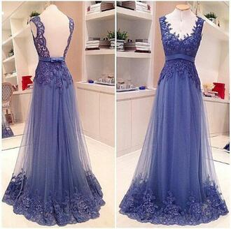 dress prom dress blue dress party party dress lacey purple dress lace dress floral lace floral lace dress wedding dress wedding bridesmaid long floor length floor length dress long dress blackless dress sleeveless sleeveless dress bows bow on dress