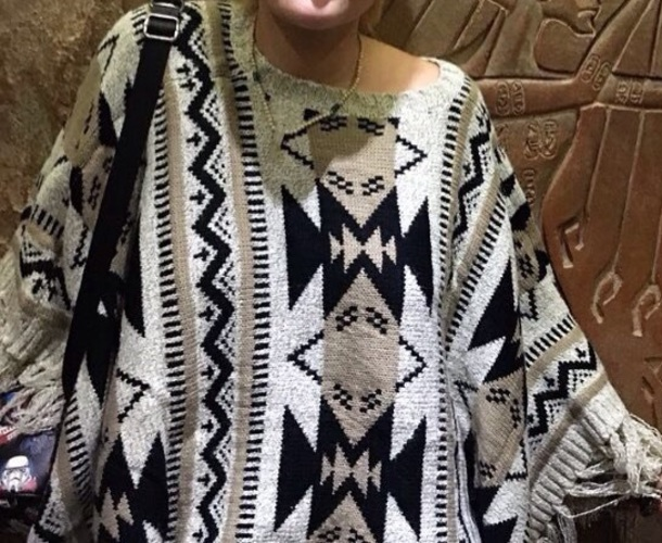sweater tribal pattern poncho poncho sweater tribal sweater