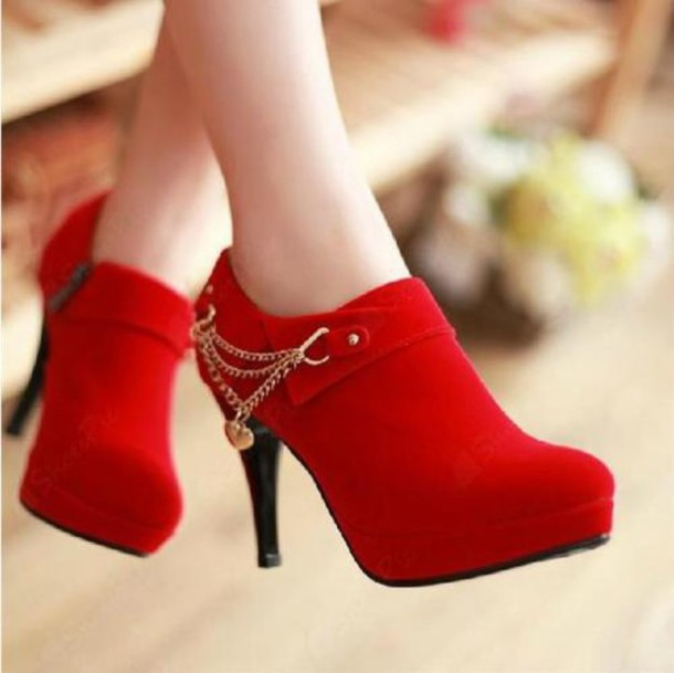 shoes red ankle boots suede suede boots suede booties red suede heels red shoes red heels red booties red boots ankle boots booties