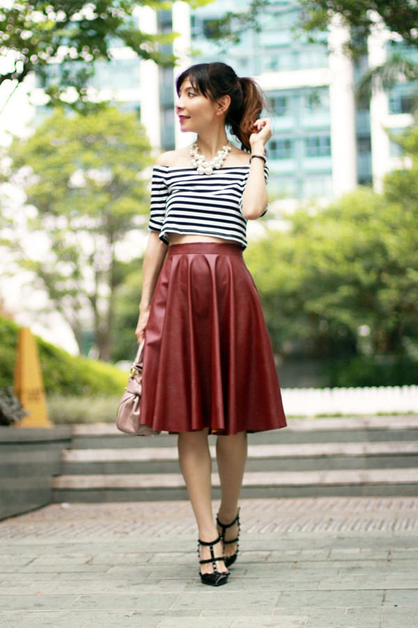 mochaccinoland blogger top skirt jewels bag