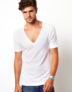 American apparel american apparel v neck t shirt in for American apparel mesh shirt