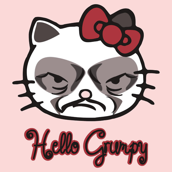 """HELLO GRUMPY "" T-Shirts & Hoodies by karmadesigner 
