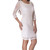 All Laced Everything Openback Dress-White