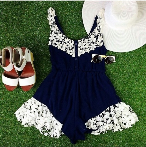 jumpsuit lace sunglasses sandals