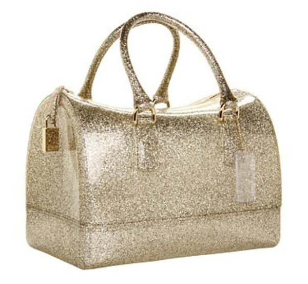 bag furla glitter bag candy bag silver bag