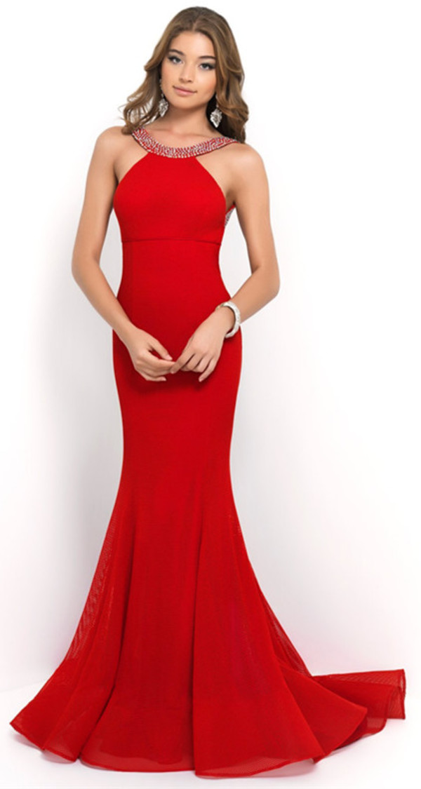 red evening dress mermaid prom dress long evening dress chiffon dress prom dress chiffon dresses party