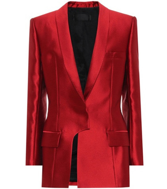 Haider Ackermann Hourglass satin jacket in red