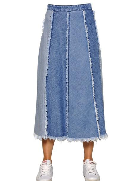 TPN skirt denim skirt denim cotton light blue light blue