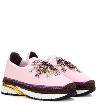 embellished sneakers pink shoes