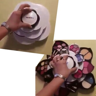 make-up flowers twists contour contouring makeup palette