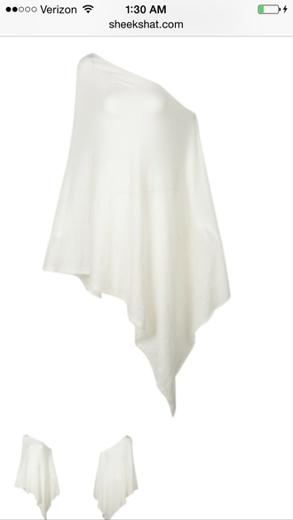 blouse clothes white top off shoulder top oversized asymmetrical