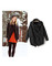 Casual black cardigan autumn winter knitwear knitted