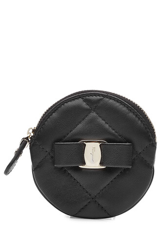 purse leather black bag
